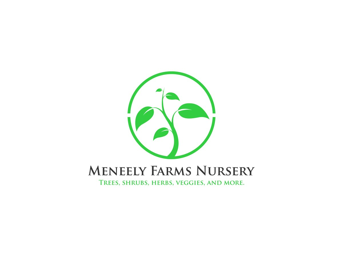 Meneely Farms Logo with green leaf design