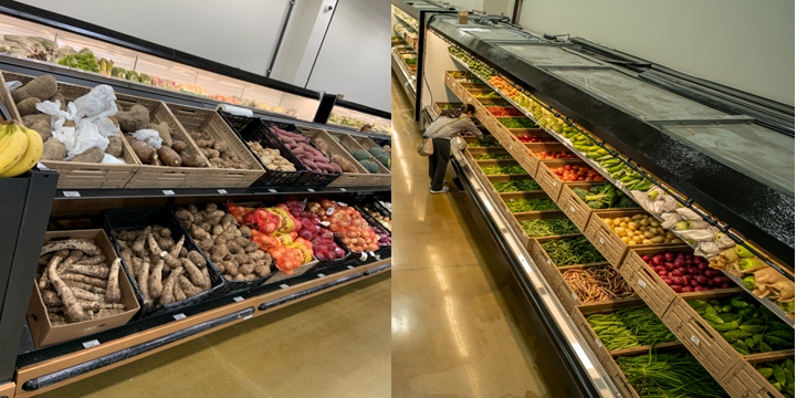 Photo of the extensive produce section at Double Fresh International Market